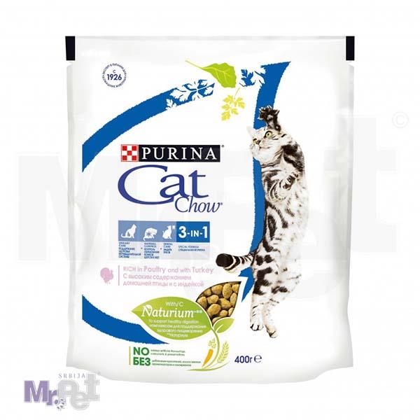 CAT CHOW hrana za mačke FELINE 3 U 1