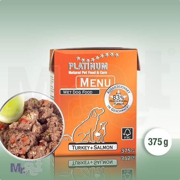 PLATINUM hrana za pse Menu ćuretina i losos