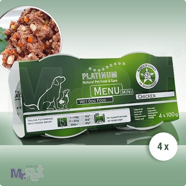PLATINUM hrana za pse Menu mini piletina