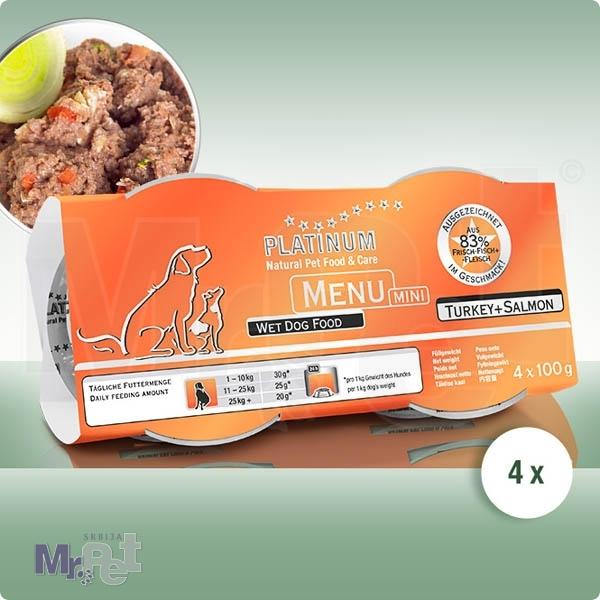 PLATINUM hrana za pse Menu mini ćuretina i losos