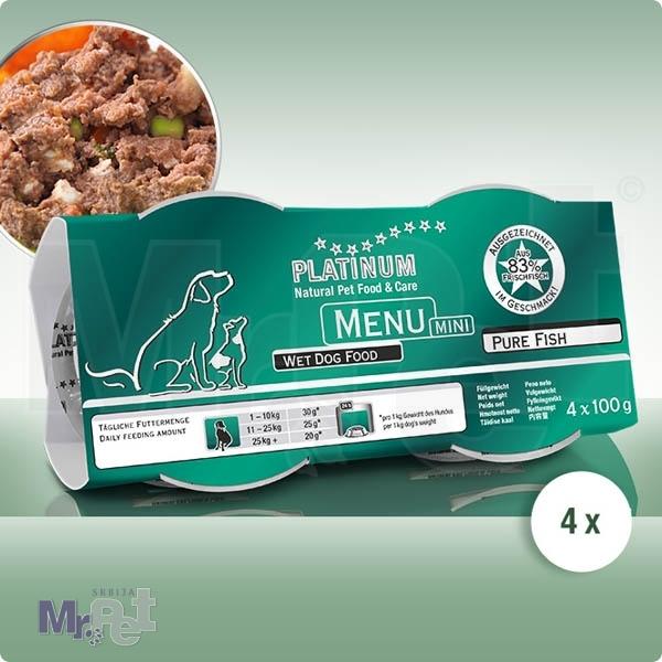 PLATINUM hrana za pse Menu mini riba