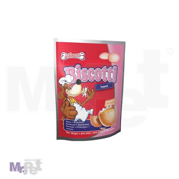 DAFIKO poslastice za pse 60 g Biscotti – šunka