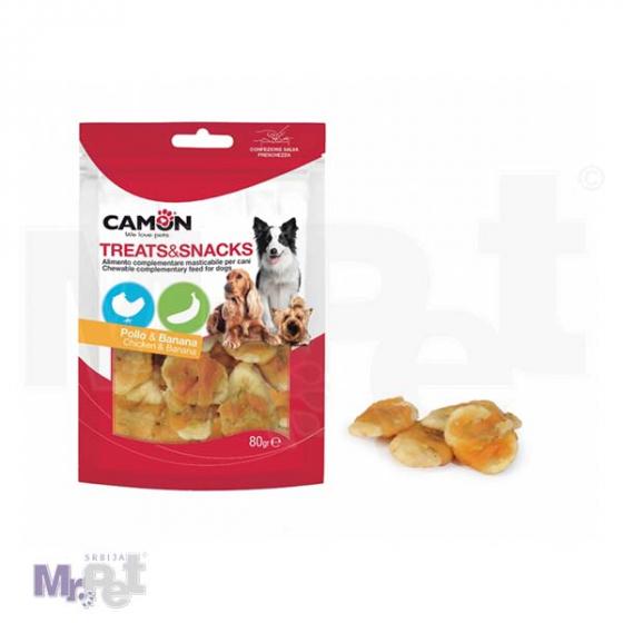 CAMON poslastica za pse piletina i banana 80 g