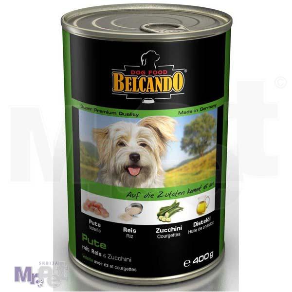 BELCANDO vlažna hrana za pse Adult ćuretina, pirinač i tikvice 400 g