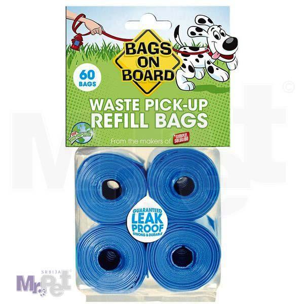 BAGS on BOARD higijenske kesice – PLAVE 15 kesica X 4 kom/60 kesica