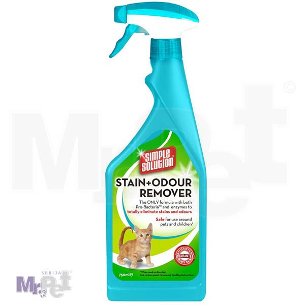 SIMPLE Solution sredstvo za čišćenje Extreme Stain+Odour Remover Cat, 750 ml