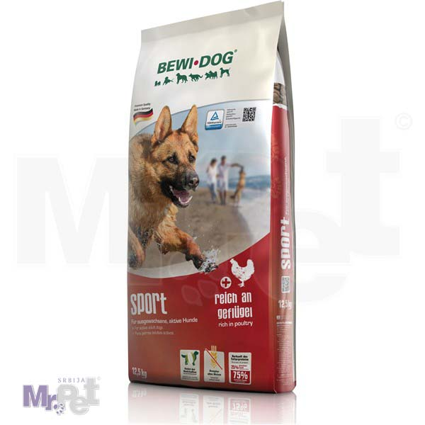 BEWI DOG hrana za pse Sport bogat živinskim mesom 12,5 kg
