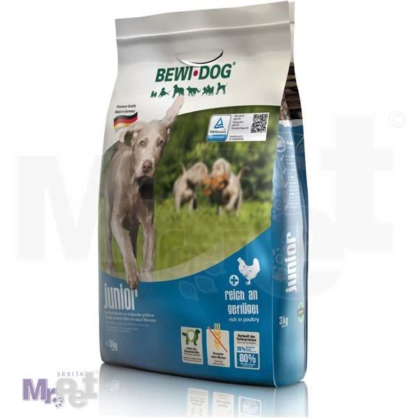 BEWI DOG hrana za pse Junior bogat živinskim mesom