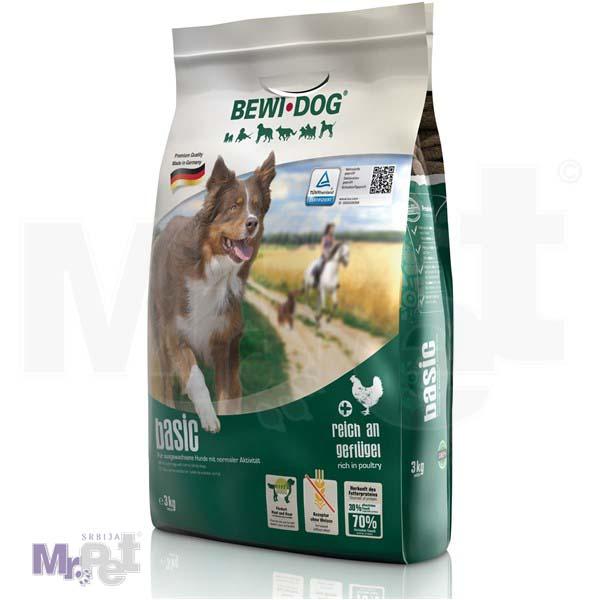 BEWI DOG hrana za pse Basic bogat živinskim mesom
