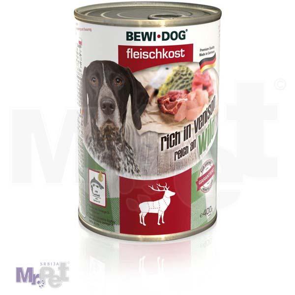 BEWI DOG hrana za pse Venison - divljač 400 g