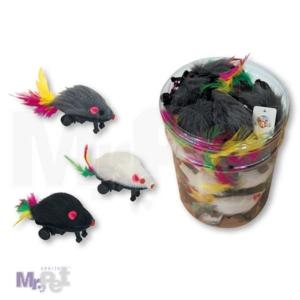 CROCI igračka za mačke miš sa točkićima 8 cm