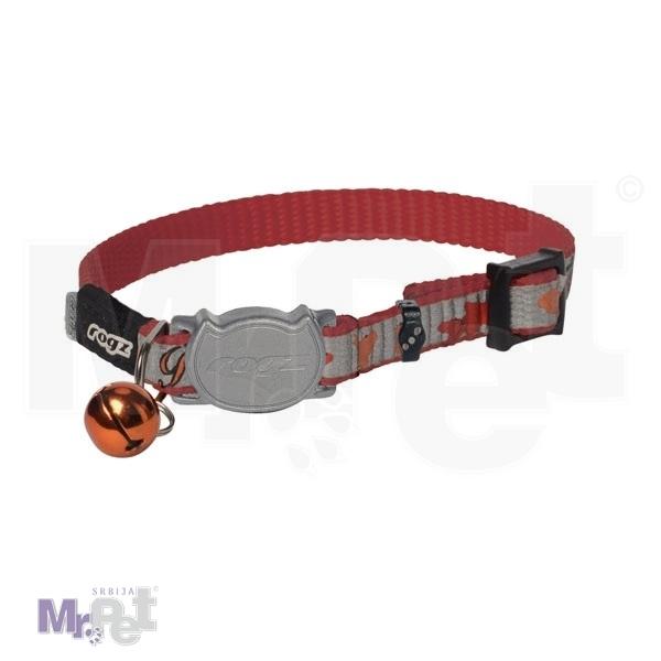 ROGZ ogrlica za mačke sa sigurnosnom kopčom 8 mm.>16,5 x 23 cm Red Fish