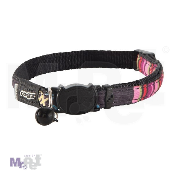 ROGZ ogrlica za mačke sa sigurnosnom kopčom 11 mm - 20-31 cm Candystripes