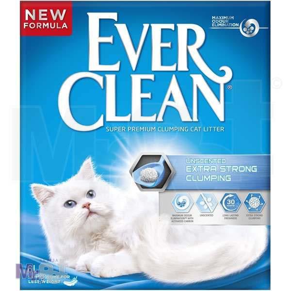 EVER CLEAN posip za mačji toalet Unscented ExtraStrong , bez mirisa, grudvajući