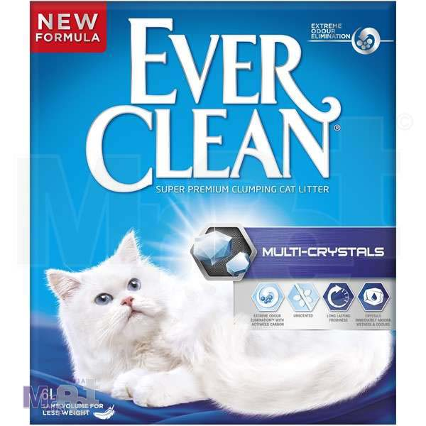 EVER CLEAN posip za mačji toalet MultiCrystals, bez mirisa, grudvajući