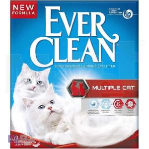 EVER CLEAN posip za mačji toalet MultipleCat, bez mirisa, grudvajući