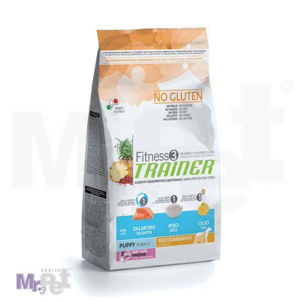 TRAINER Fitness 3 hrana za pse PUPPY Medium/maxi, losos i pirinač