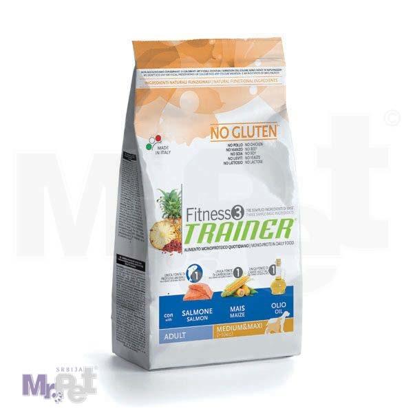 TRAINER Fitness 3 hrana za pse ADULT Medium/maxi, losos i kukuruz