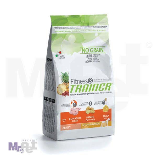 TRAINER Fitness 3 hrana za pse ADULT Medium/maxi, zečetina i krompir