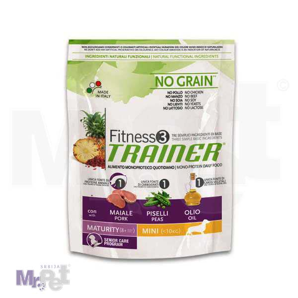 TRAINER Fitness 3 hrana za pse MATURITY mini 2 kg