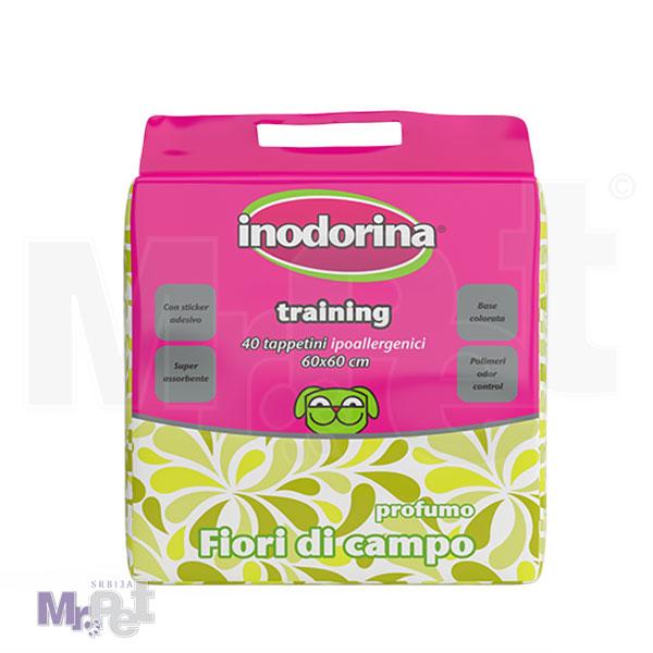 INODORINA pelene za štence Training Pads Flower parfume 40 kom.