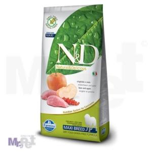 N&D Grain Free Hrana za pse Maxi Adult, divlja svinja i jabuka 12 kg
