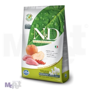 N&D Grain Free Hrana za pse Medium Adult, divlja svinja i jabuka