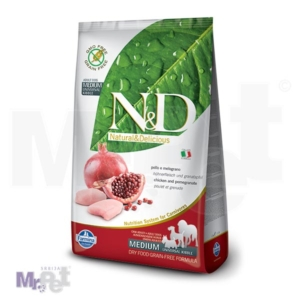 N&D Grain Free Hrana za pse Medium Adult, Piletina i  Nar