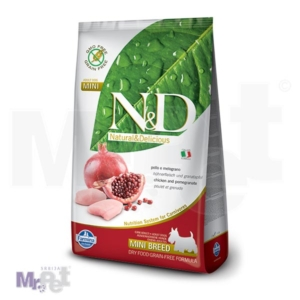 N&D Grain Free Hrana za pse Mini Adult, Piletina i  Nar