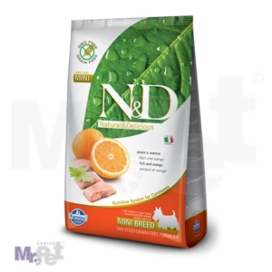 N&D Grain Free Hrana za pse Mini Adult, riba i pomorandža