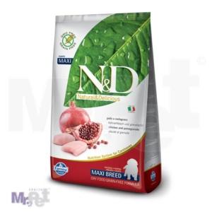 N&D Grain Free Hrana za štence Maxi Puppy, Piletina i  Nar