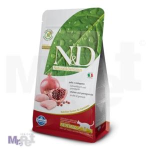 N&D Grain Free Hrana za sterilisane mačke, Piletina i Nar