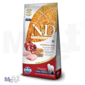 N&D Low Grain Hrana za pse Maxi Adult, Piletina i Nar, 12 kg 12 kg
