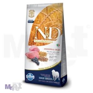 N&D Low Grain Hrana za pse Maxi Adult, Jagnjetina i Borovnica, 12 kg 12 kg