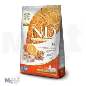 N&D Low Grain Hrana za pse Mini Adult, Bakalar i Pomorandža