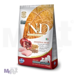 N&D Low Grain Hrana za štence Medium Puppy, piletina i nar