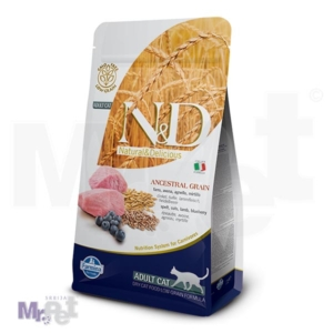N&D Low Grain Hrana za odrasle mačke, Jagnjetina i Borovnica