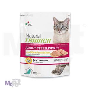 TRAINER Natural hrana za mačke Sterilised Fresh belo meso