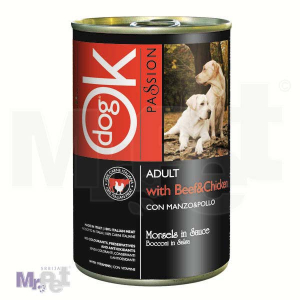 OK PASSION hrana za pse zalogaji u umaku sa piletinom i govedinom
