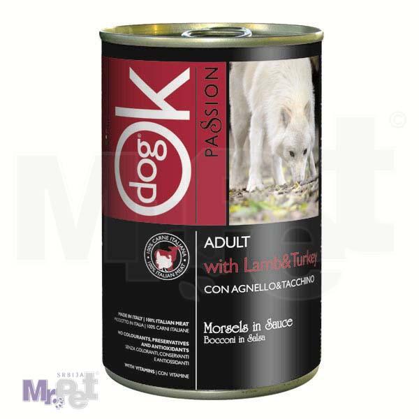 OK PASSION hrana za pse zalogaji u umaku sa jagnjetinom i ćuretinom