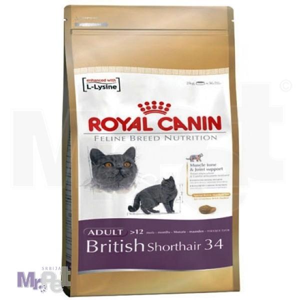 ROYAL Canin hrana za mačke BRITISH SHORTHAIR 34