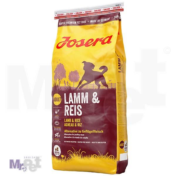 JOSERA hrana za pse Lamb i rice, alternativa za živinsko meso 15 kg