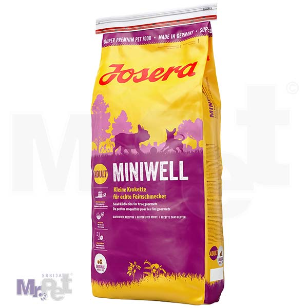 JOSERA hrana za pse Miniwell, hrana za sladokusce 15 kg