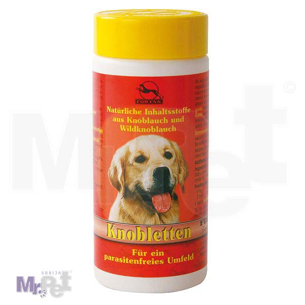 FORTAN dodatak ishrani za pse Beli luk, Knobletten, 400 g (800 tab.)