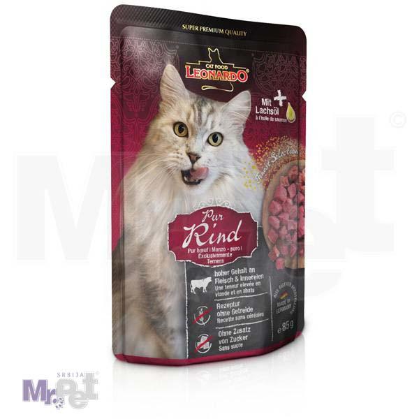 LEONARDO hrana za mačke Beef mesni sos, govedina bez žitarica, 85 g