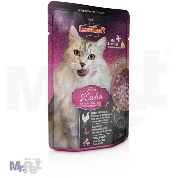 LEONARDO hrana za mačke Chicken mesni sos, piletina bez žitarica, 85 g