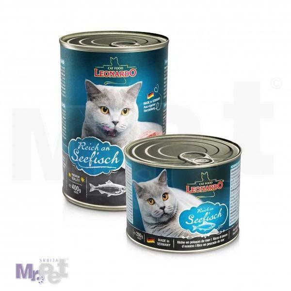 LEONARDO hrana za mačke Seefish, morska riba, 200 g