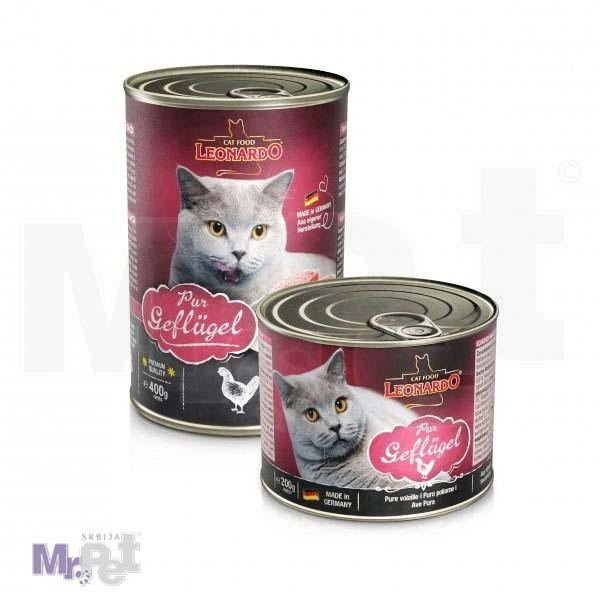 LEONARDO hrana za mačke Poultry, živinsko meso, 200 g