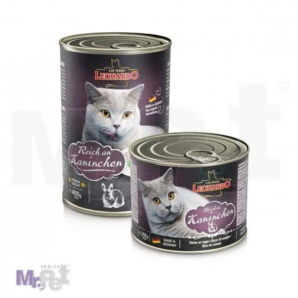 LEONARDO hrana za mačke Rabbit, zečetina, 200 g