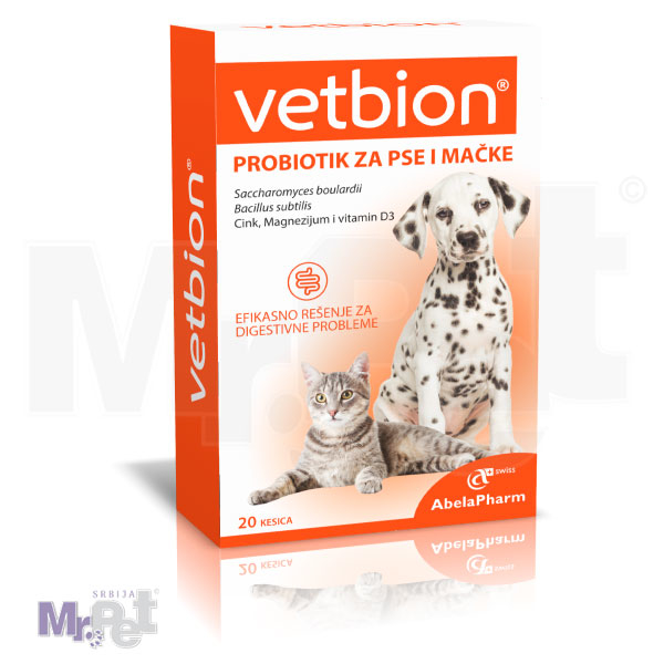 Vetbion probiotik za pse i mačke, 20 kesica